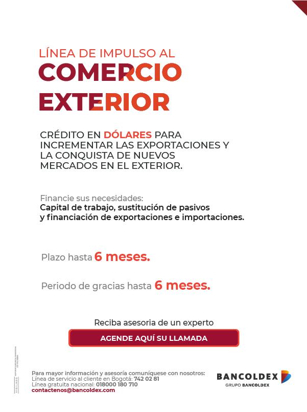 1c9437f127c1 Línea de crédito para impulsar el comercio exterior | Bancoldex