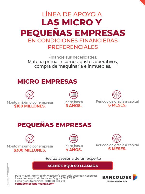25eaa6e3c34e Línea de crédito para micros y pequeñas empresas | Bancoldex