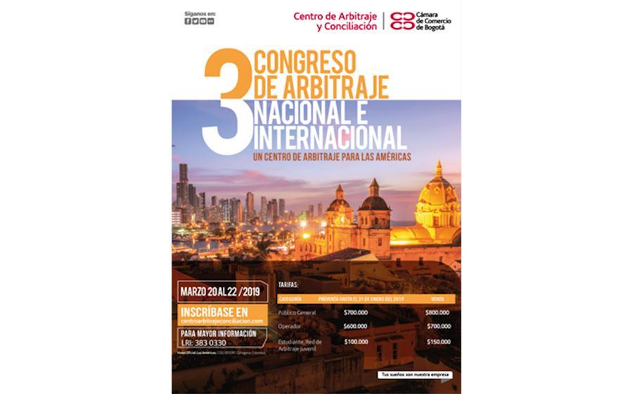 3er Congreso de Arbitraje Nacional e Internacional